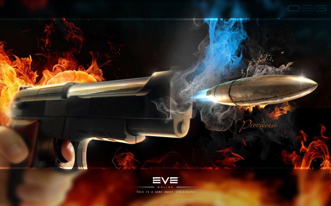 abstract guns fire bullets wallpaper