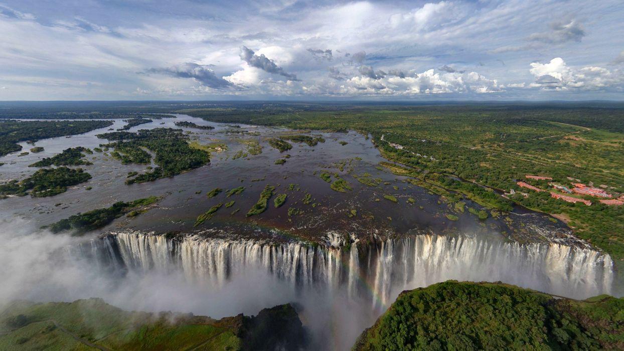landscapes waterfalls Victoria Falls wallpaper