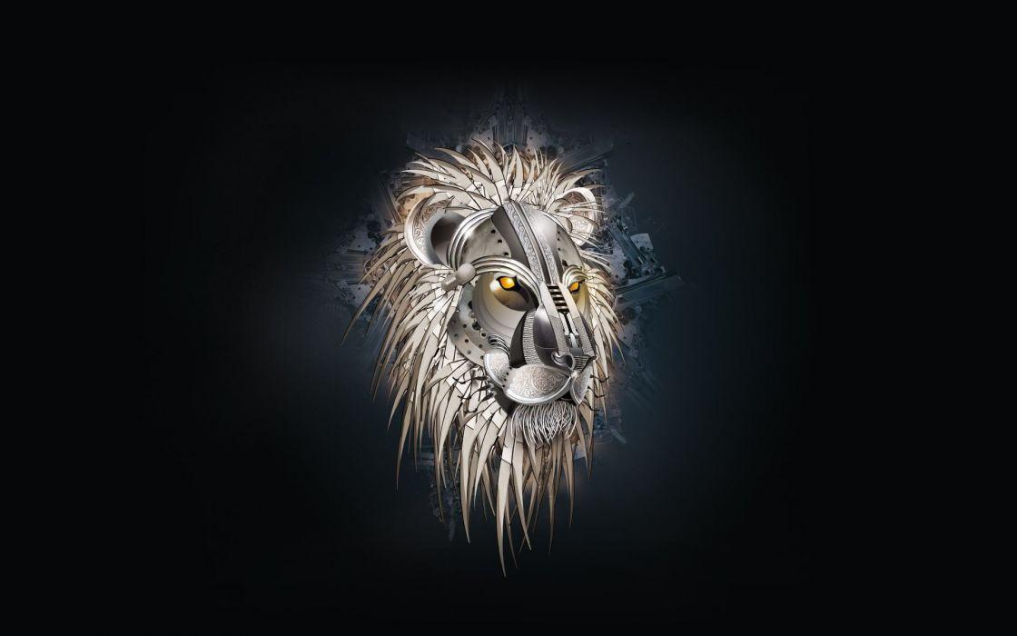 digital art artwork lions wallpaper