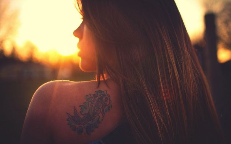 brunettes tattoos women wallpaper