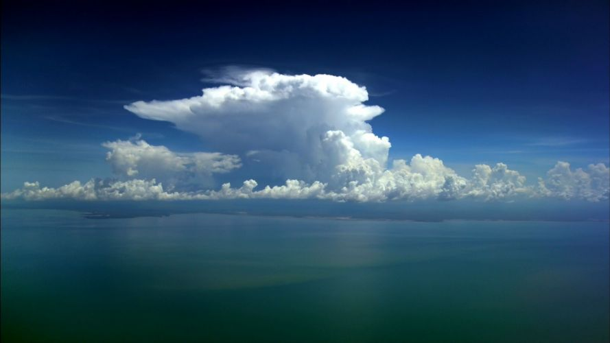 ocean clouds skyscapes wallpaper