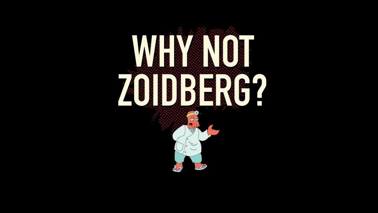 Futurama funny Dr Zoidberg questions black background wallpaper