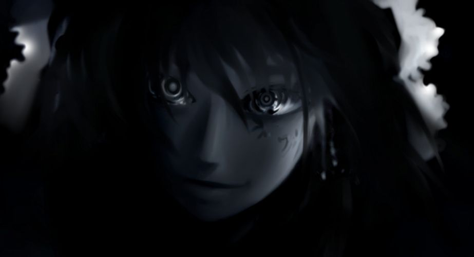 black and white video games Touhou black dark Hakurei Reimu bows monochrome soft shading anime girls faces hair ornaments wallpaper