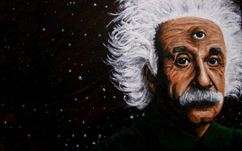 Albert Einstein third eye wallpaper
