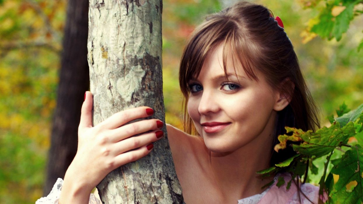 brunettes women models Amelie wallpaper