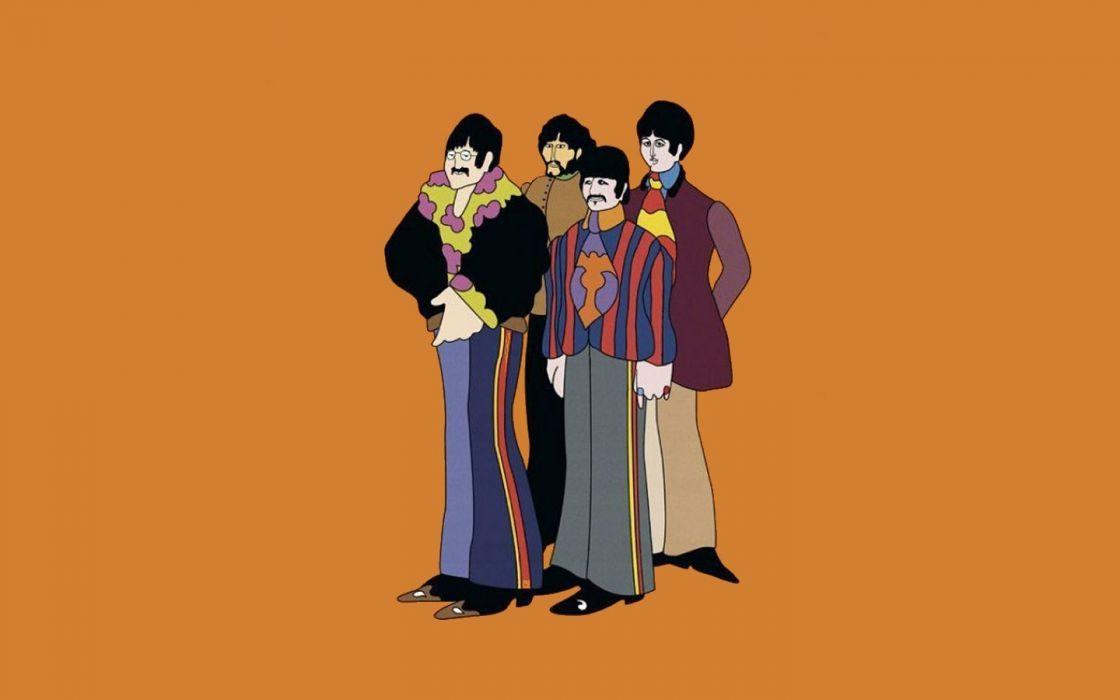 The Beatles British wallpaper