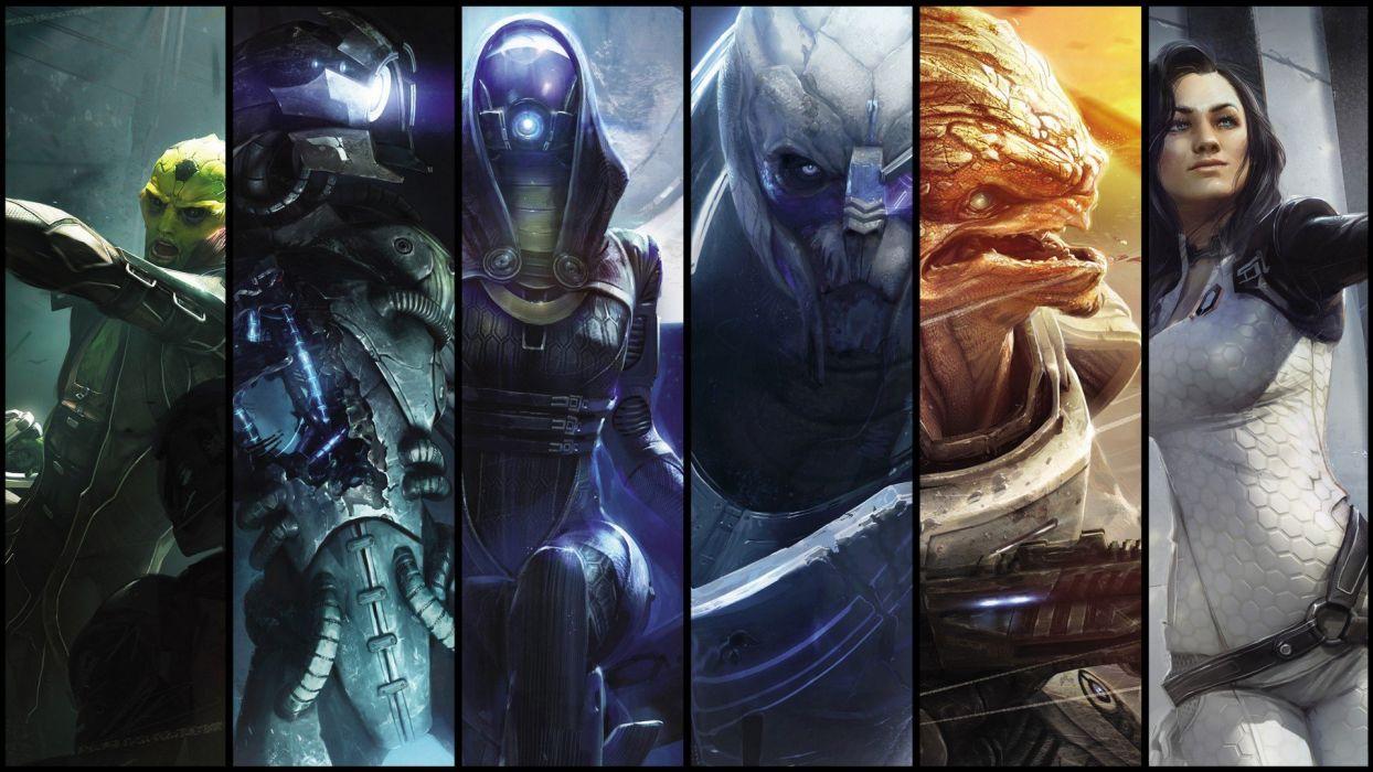 video games legion Mass Effect Miranda Lawson grunt Mass Effect 2 Garrus Vakarian Thane Krios Tali Zorah nar Rayya wallpaper