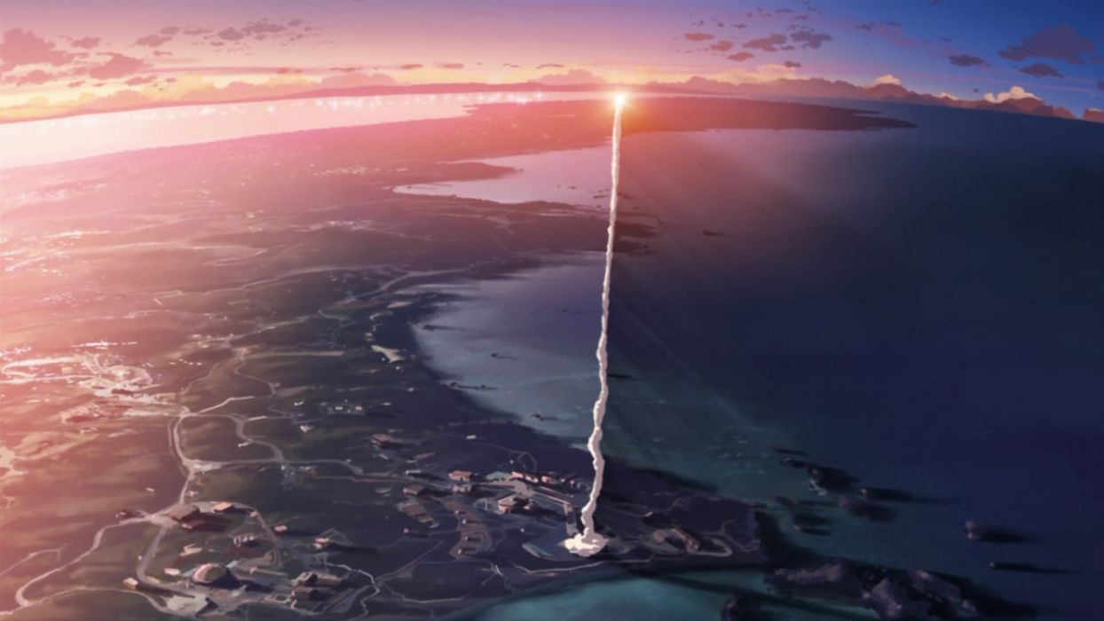 Makoto Shinkai 5 Centimeters Per Second contrails wallpaper