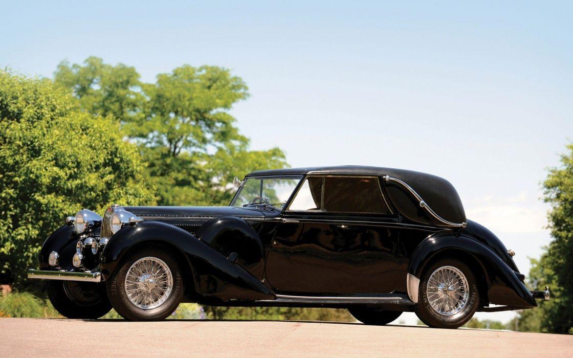 Bugatti cabriolet vintage car wallpaper