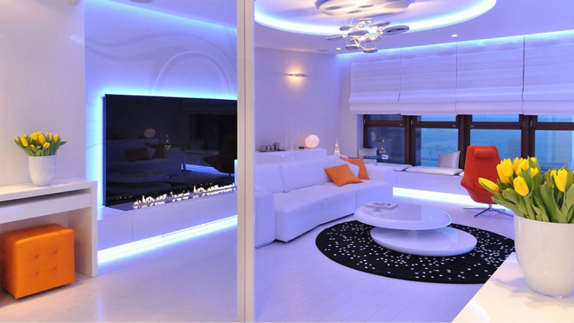 Interior Design Purple Living Room Interior Design Room House Home Apartment Condo 251 Wallpaper