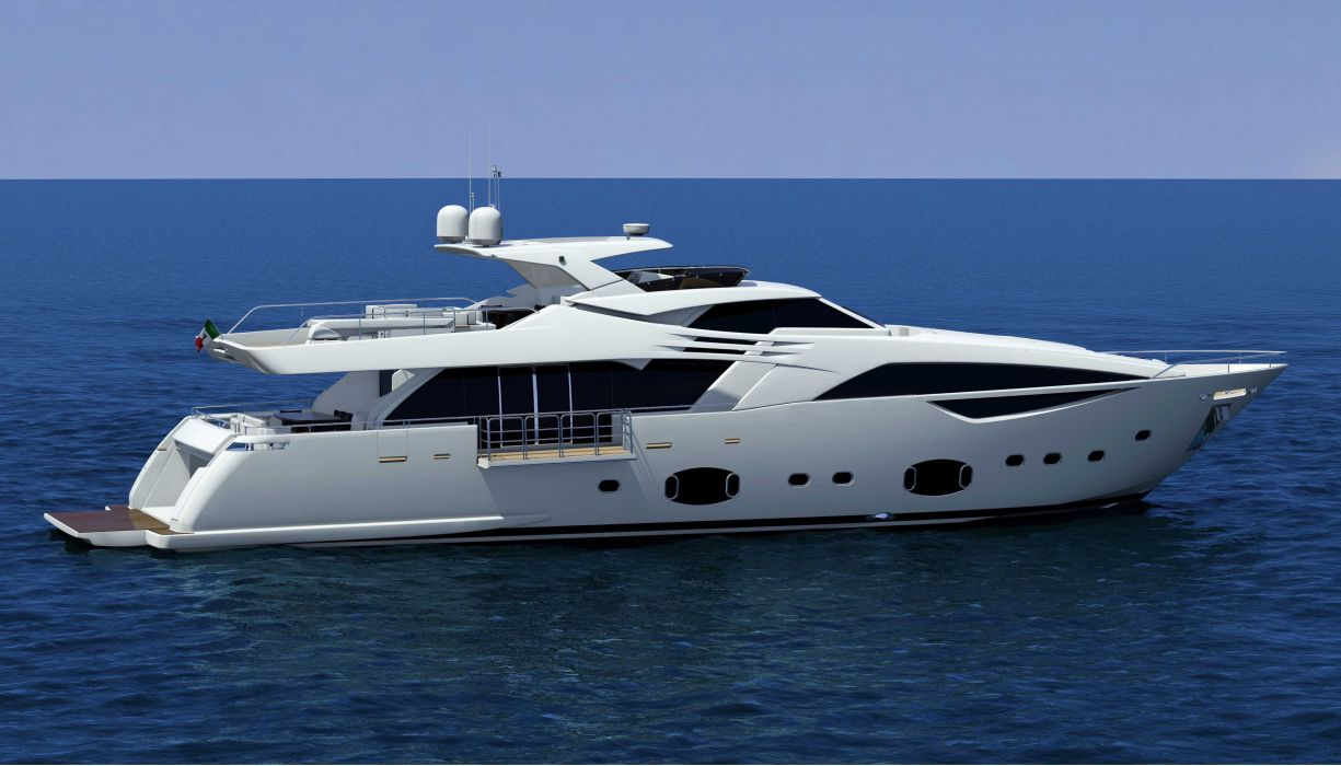 FERRETTI yacht boat ship (5) wallpaper