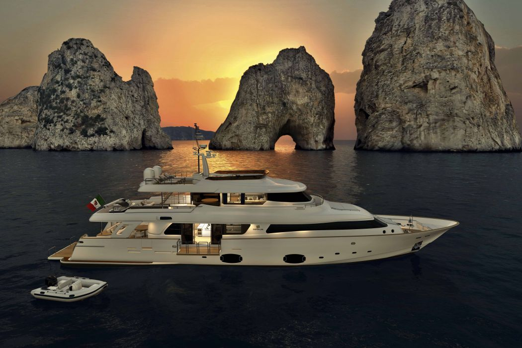 FERRETTI yacht boat ship (25) wallpaper