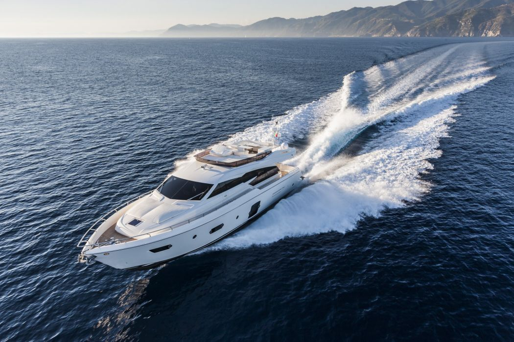 FERRETTI yacht boat ship (42) wallpaper