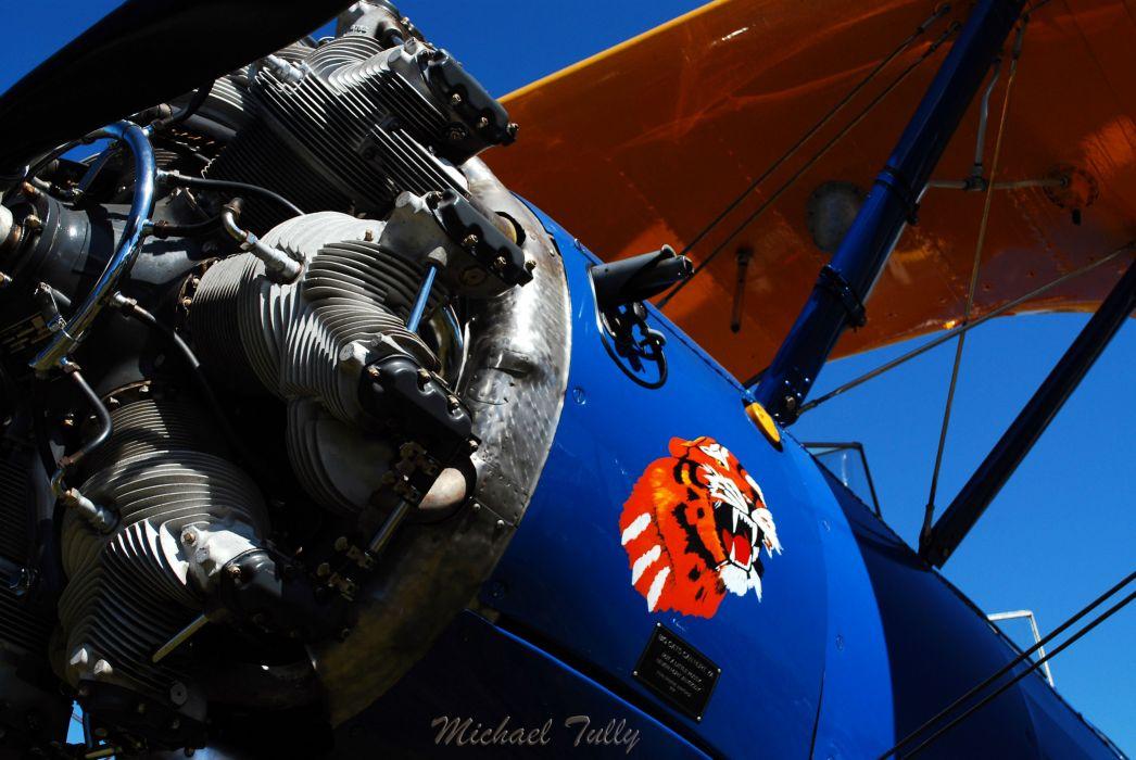 Biplane Airplane Plane Aircraft Engine Wallpaper
