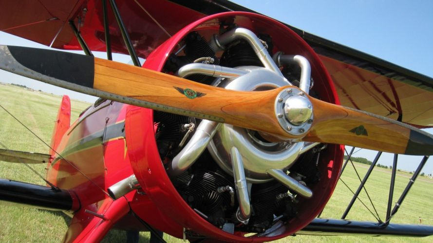 biplane airplane plane aircraft engine wallpaper