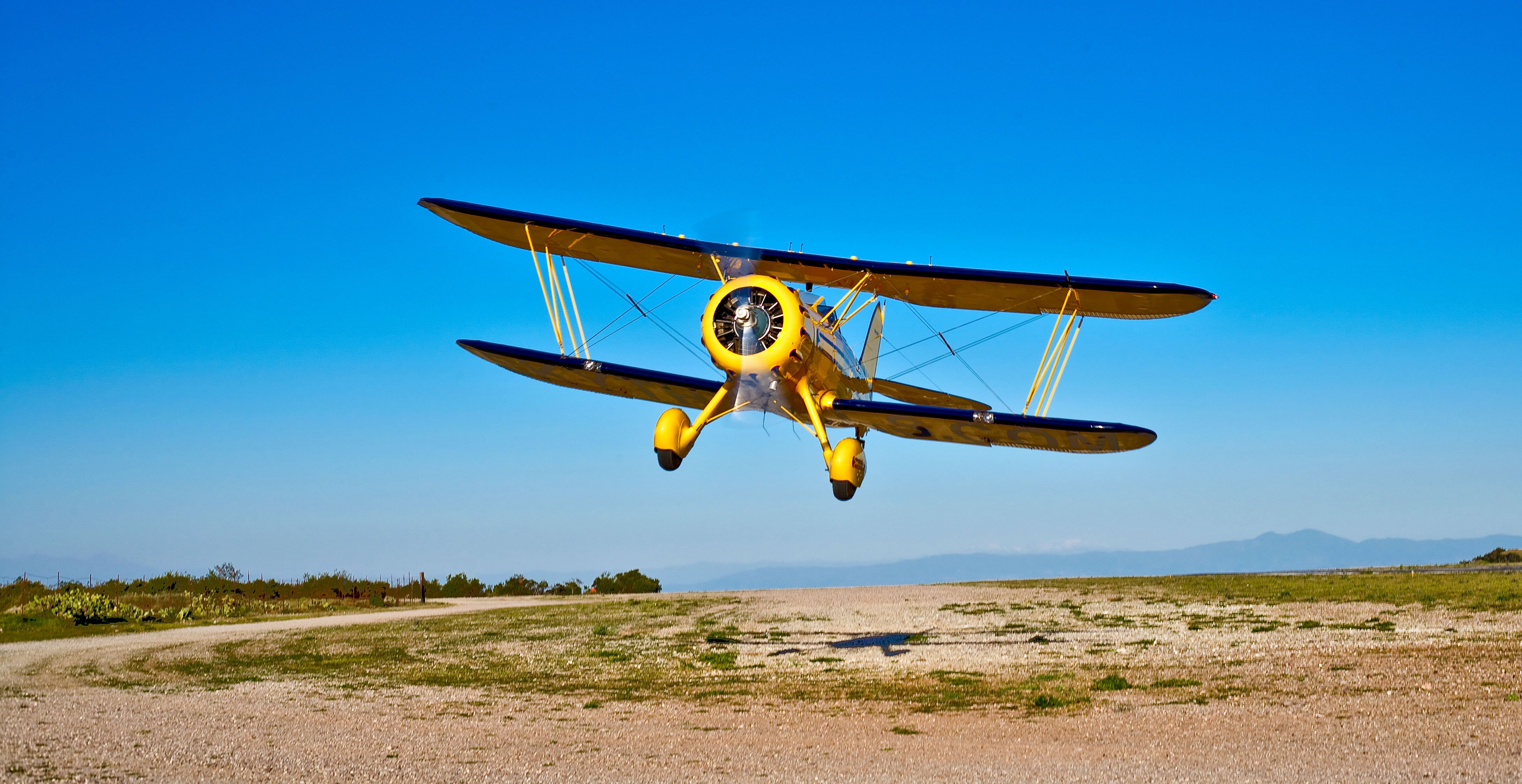 Biplane airplane plane aircraft wallpaper 4362x2249 for Airplane plan