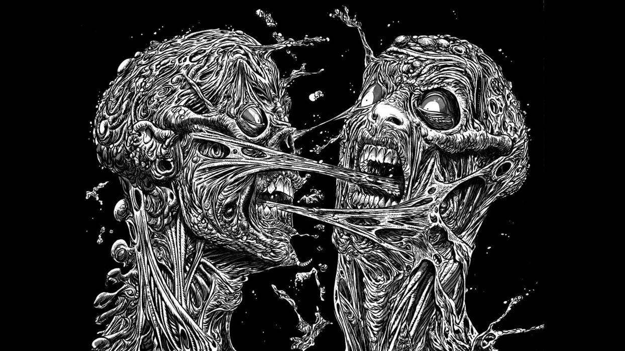 horror zombies artwork black background wallpaper