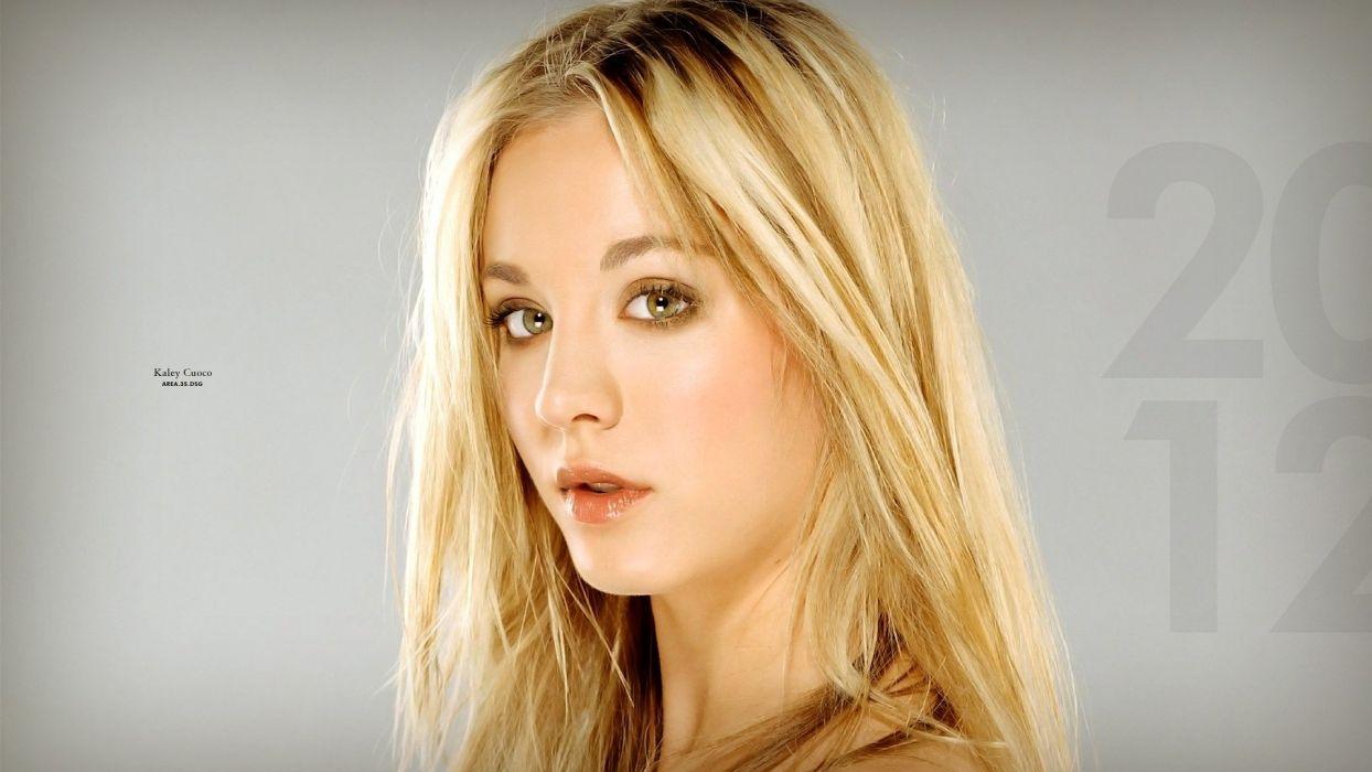 blondes women models Kaley Cuoco faces wallpaper