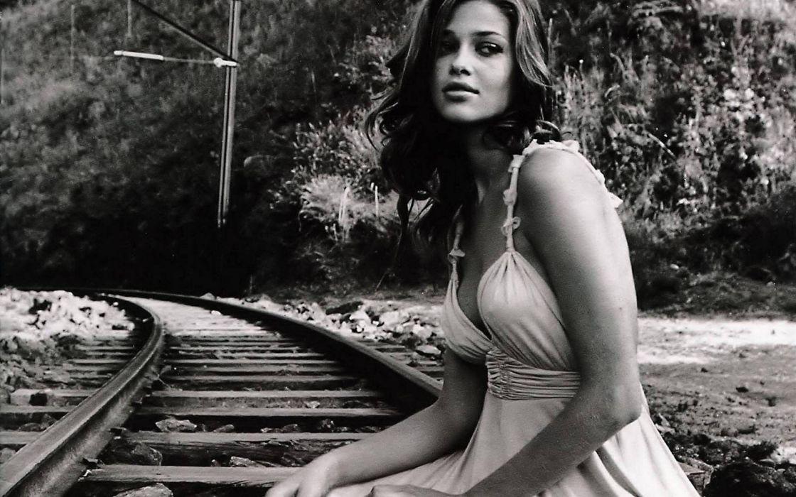 women models monochrome Anna Beatriz Barros wallpaper