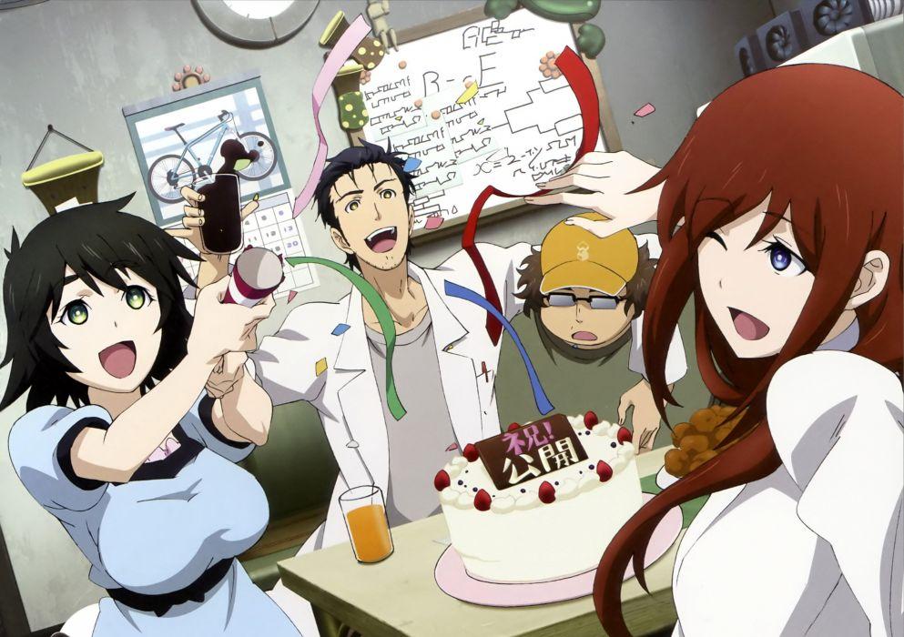 anime anime boys Steins;Gate Shiina Mayuri Makise Kurisu Hashida Itaru Okabe Rintarou anime girls scans Steins;Gate: Fuka Ryouiki no DAIA wallpaper