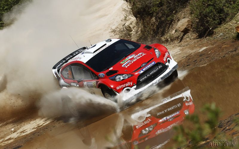water cars rally Ford Fiesta racing red cars WRC races rally cars racing cars Ford Fiesta WRC wallpaper