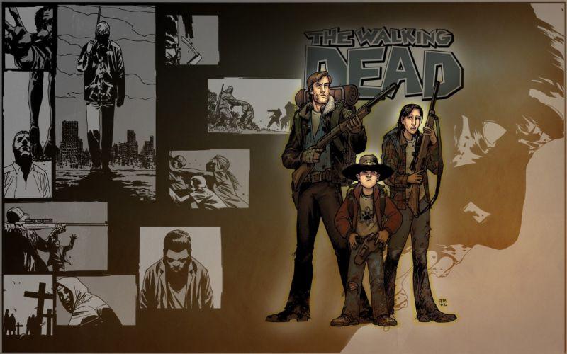 comics The Walking Dead drawings wallpaper