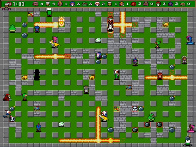 video games Bomberman retro games 16-bit wallpaper