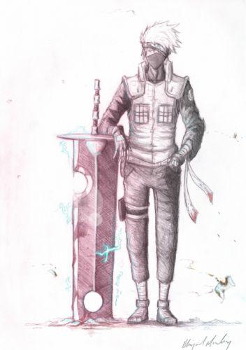 sketches Naruto: Shippuden drawings manga lightning Kakashi Hatake swords wallpaper