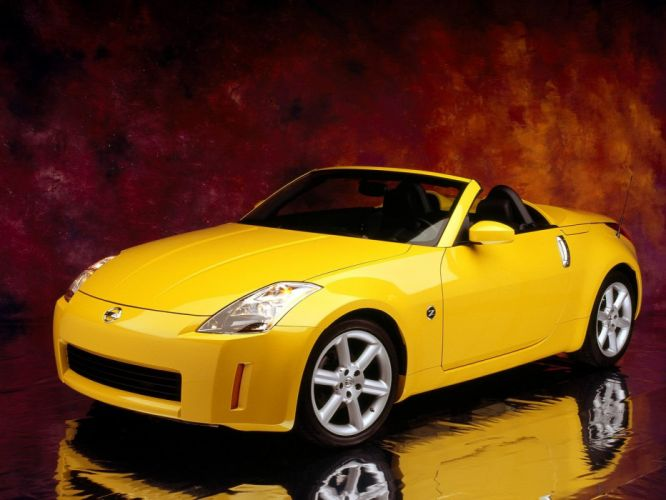 cars Nissan 350Z convertible Nissan Fairlady Z33 350Z Nissan Fairlady Z yellow cars wallpaper