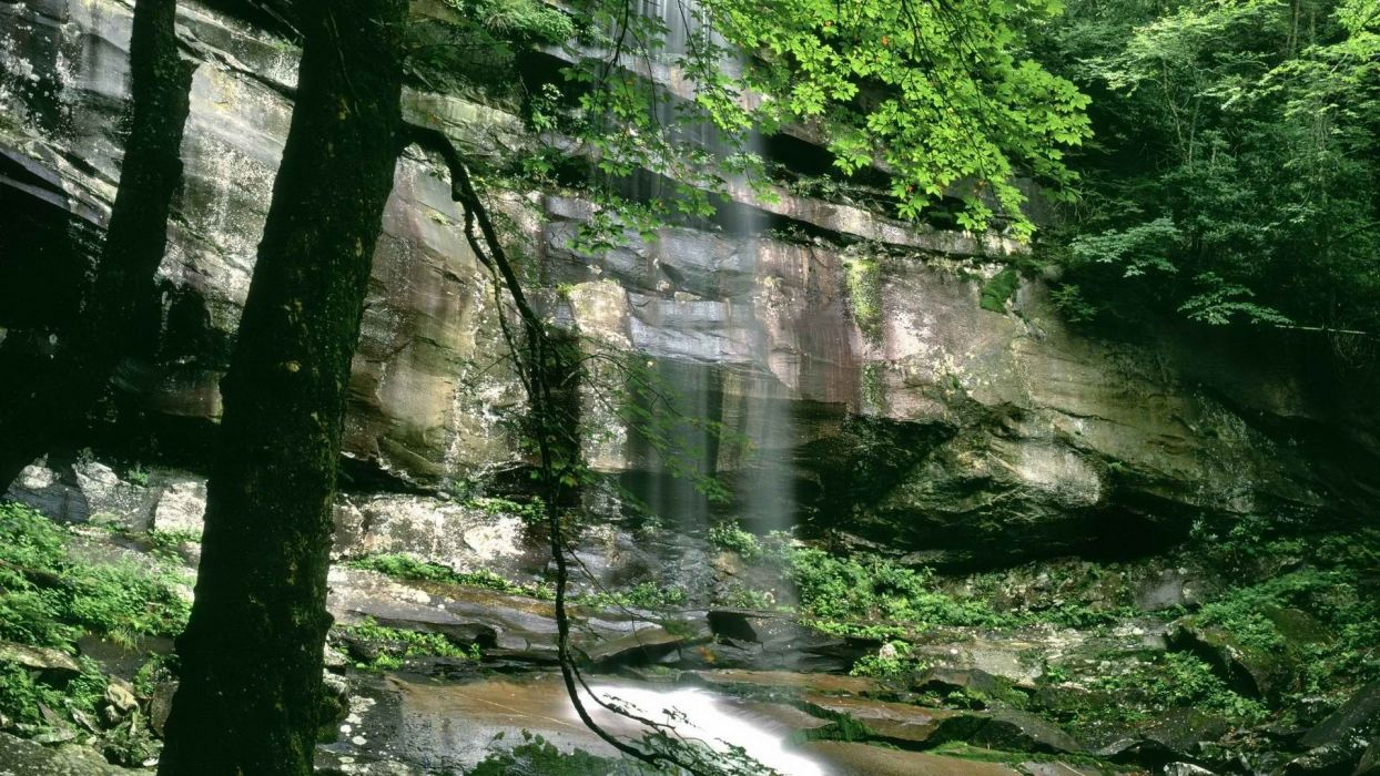 mountains spring falls Tennessee National Park wallpaper