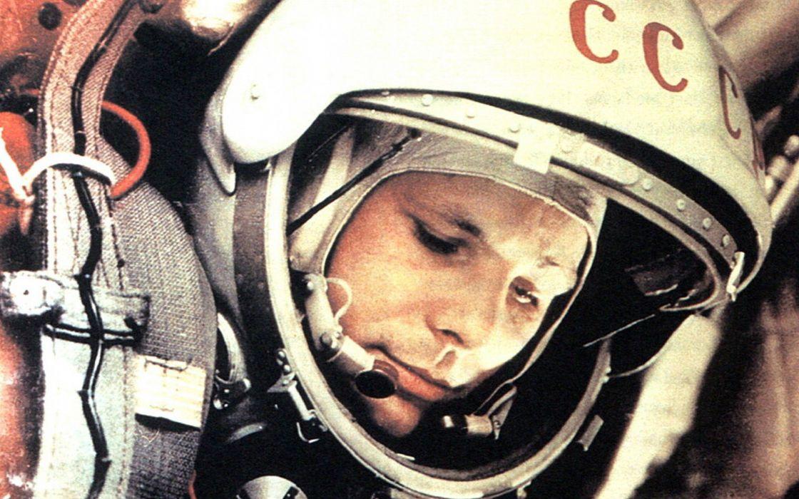 outer space Yuri Gagarin cosmonaut wallpaper