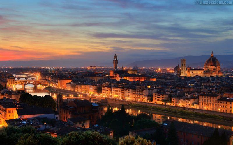 cityscapes Italy Florence Ponte Vecchio wallpaper