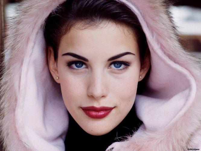 brunettes women blue eyes actress lips Liv Tyler faces wallpaper