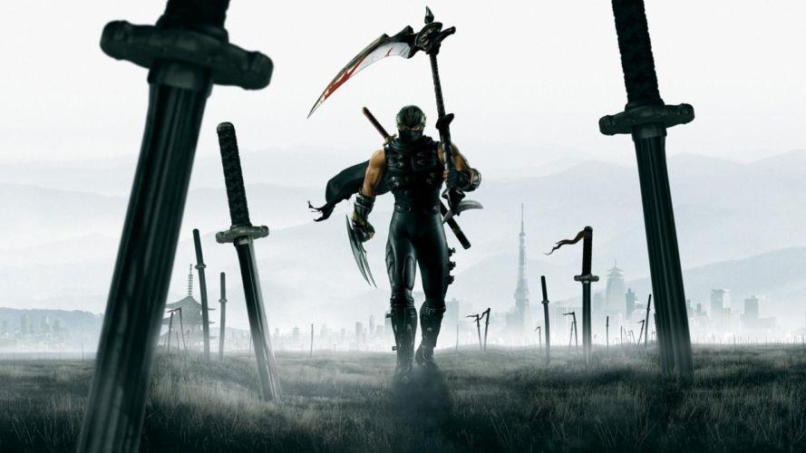 Ninja Gaiden artwork warriors swords wallpaper
