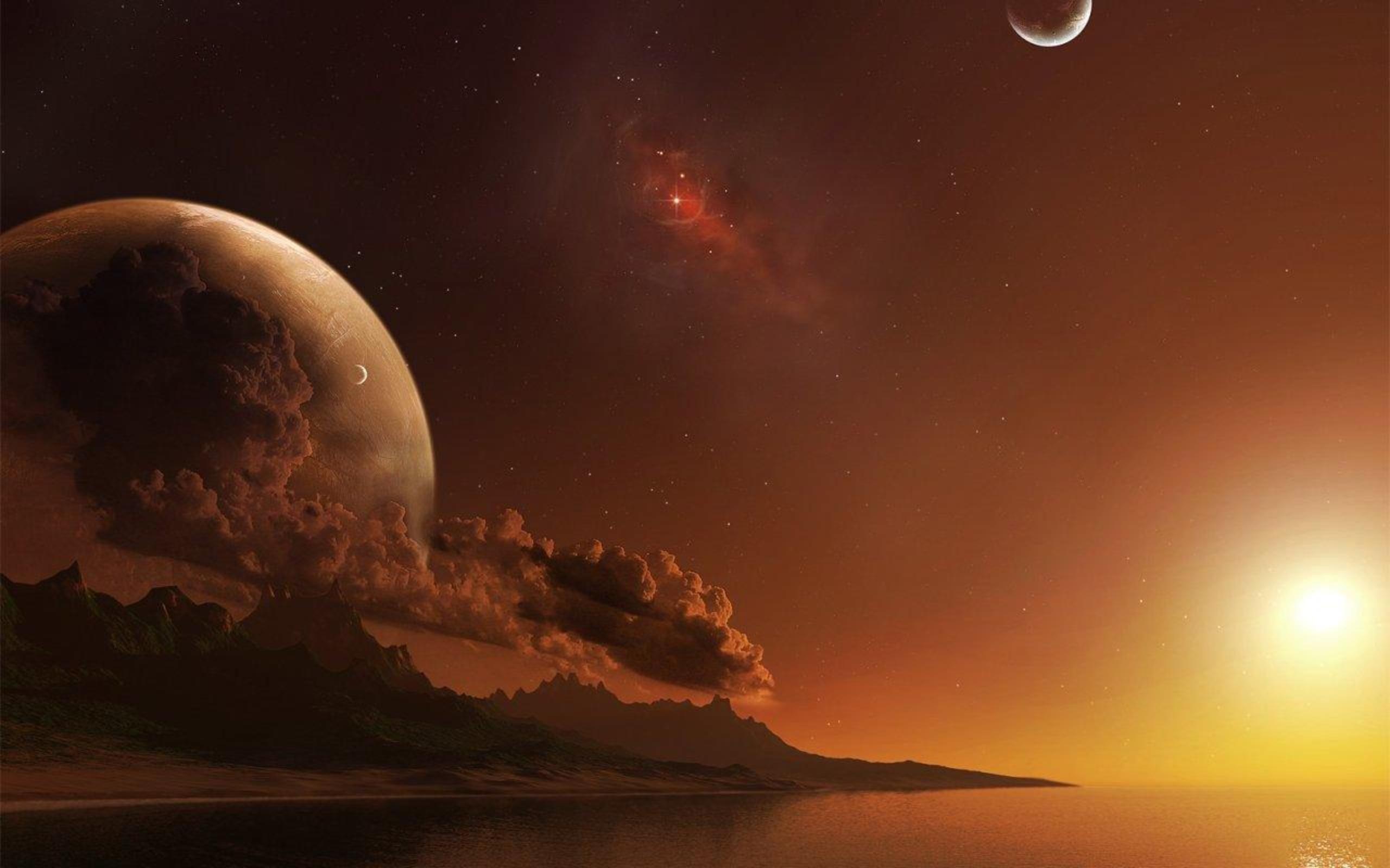 Digital art alien landscapes wallpaper | 2560x1600 ...