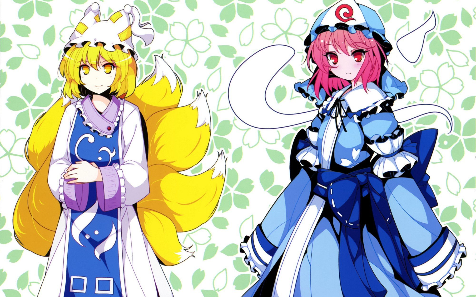 Blondes Tails Video Games Touhou Dress Ghosts Pink Hair