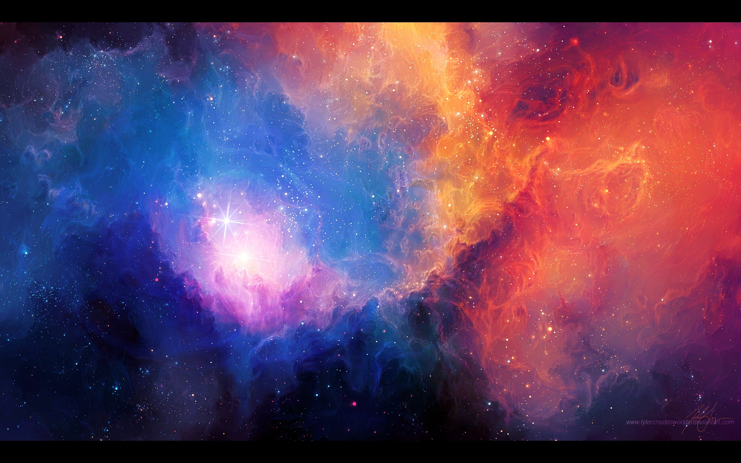Abstract outer space stars nebulae artwork Tyler Young ...