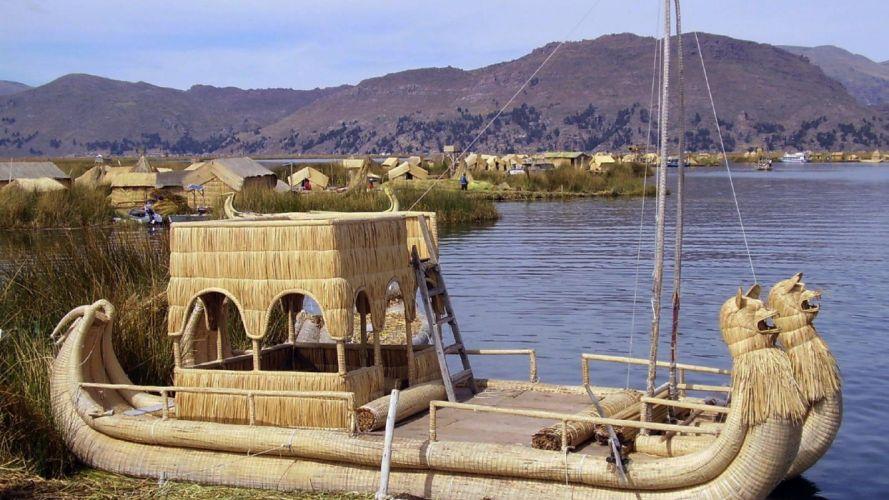 landscapes nature Lake Titicaca wallpaper