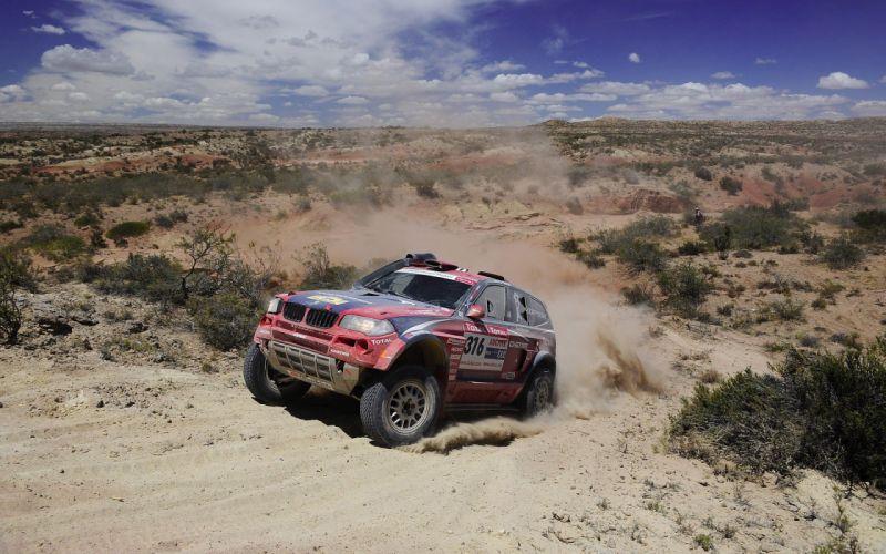 clouds BMW cars rally dirt Dakar BMW X3 wallpaper
