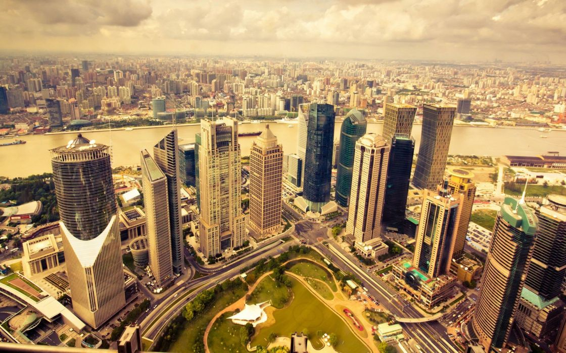 skyscrapers panorama cities wallpaper