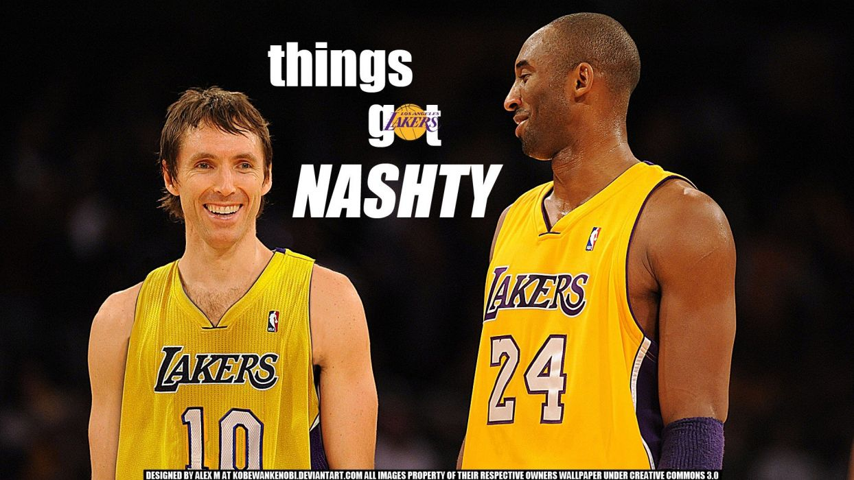 Sports NBA Basketball Kobe Bryant Los Angeles Lakers Steve Nash Player Wallpaper