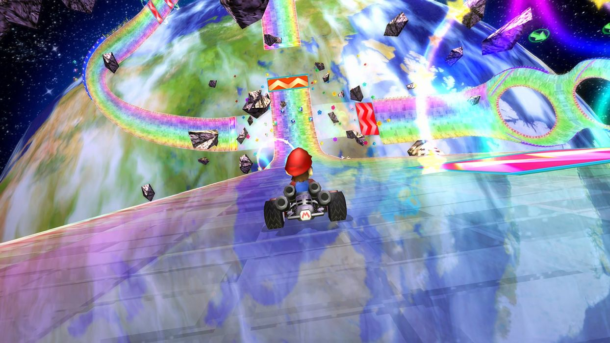 Screenshots Mario Kart Rainbow Road Wallpaper 1920x1080 318535