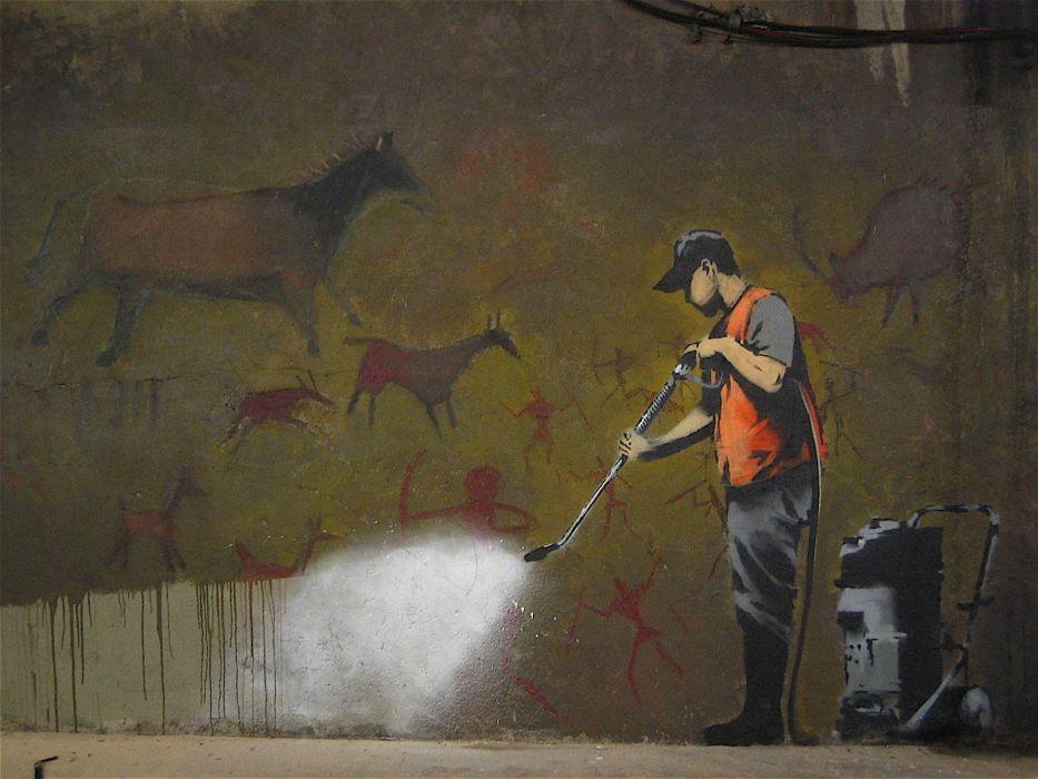 Banksy street art wallpaper