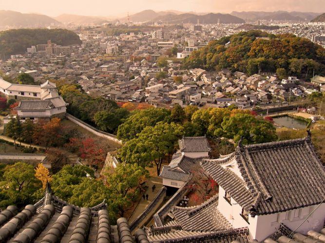 Japan castles cityscapes Himeji-Jo Castle Japan The Keep Towers wallpaper