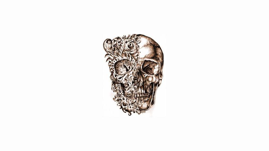 skulls artwork wallpaper