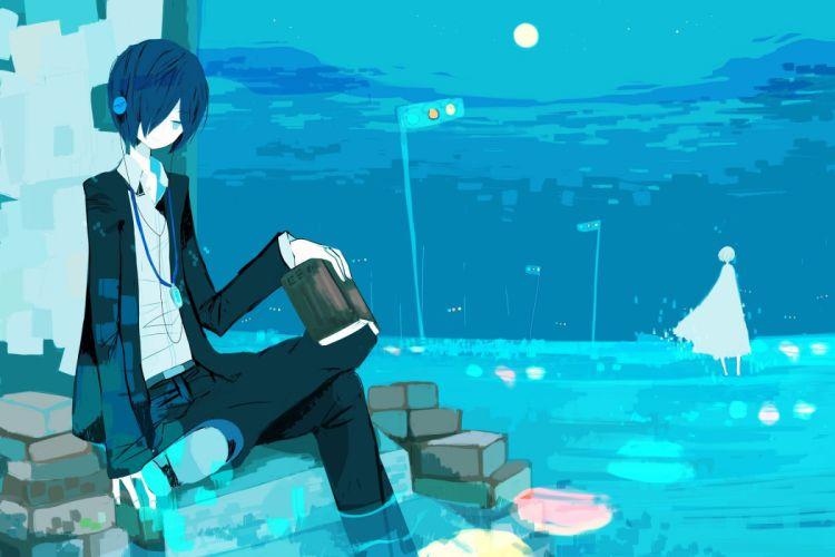 headphones Persona series Persona 3 Arisato Minato Maru wallpaper