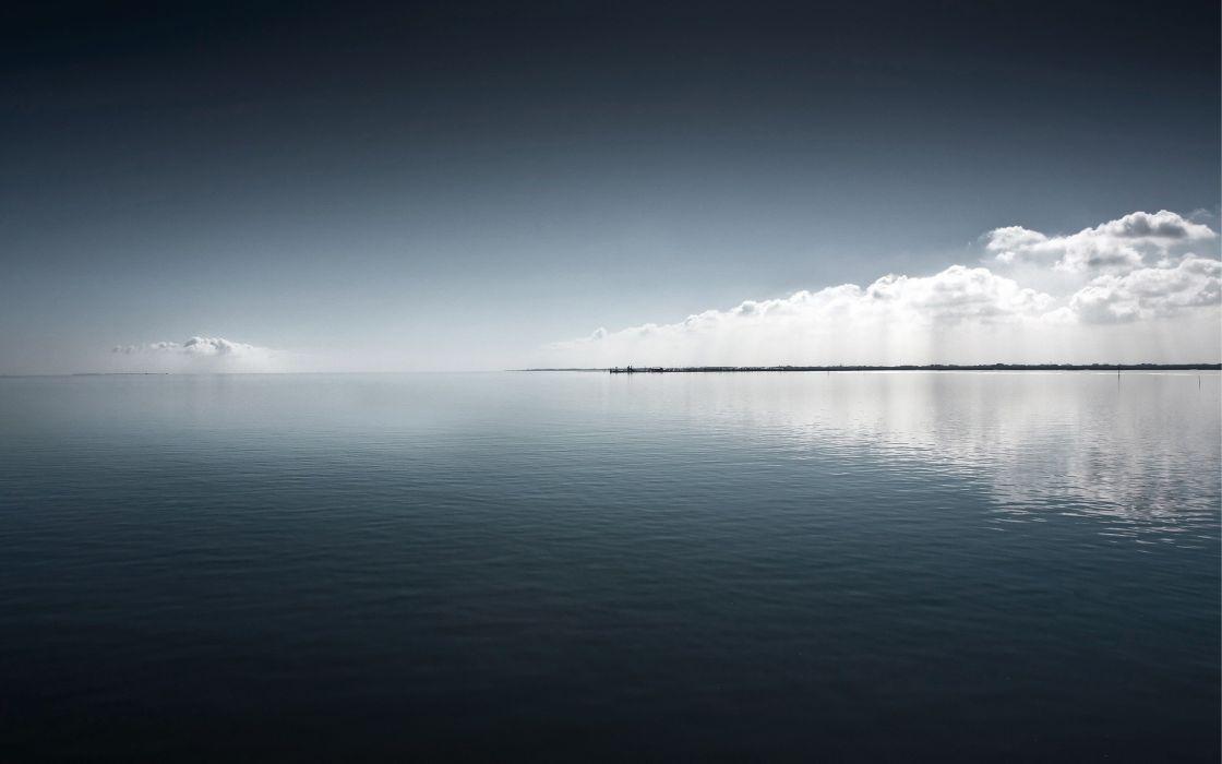 water clouds lakes skies sea wallpaper