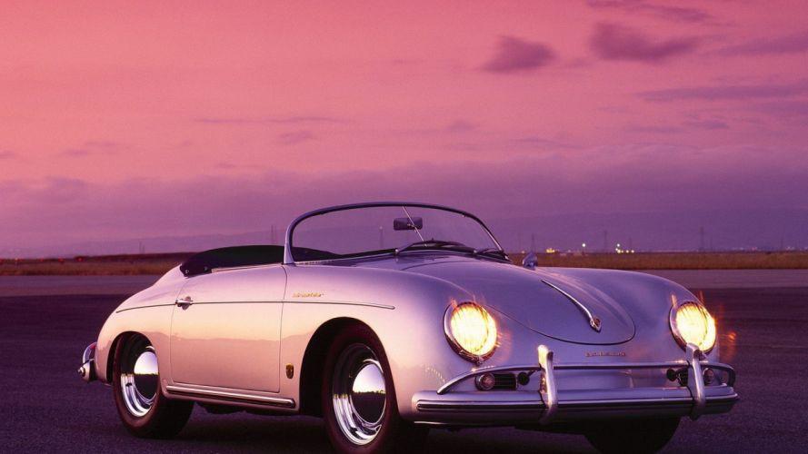 sunset Porsche cars wallpaper