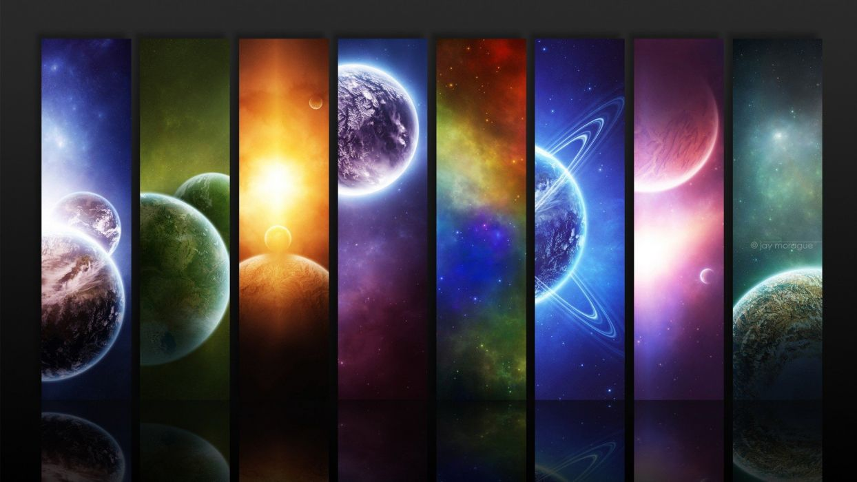 planets digital art artwork wallpaper