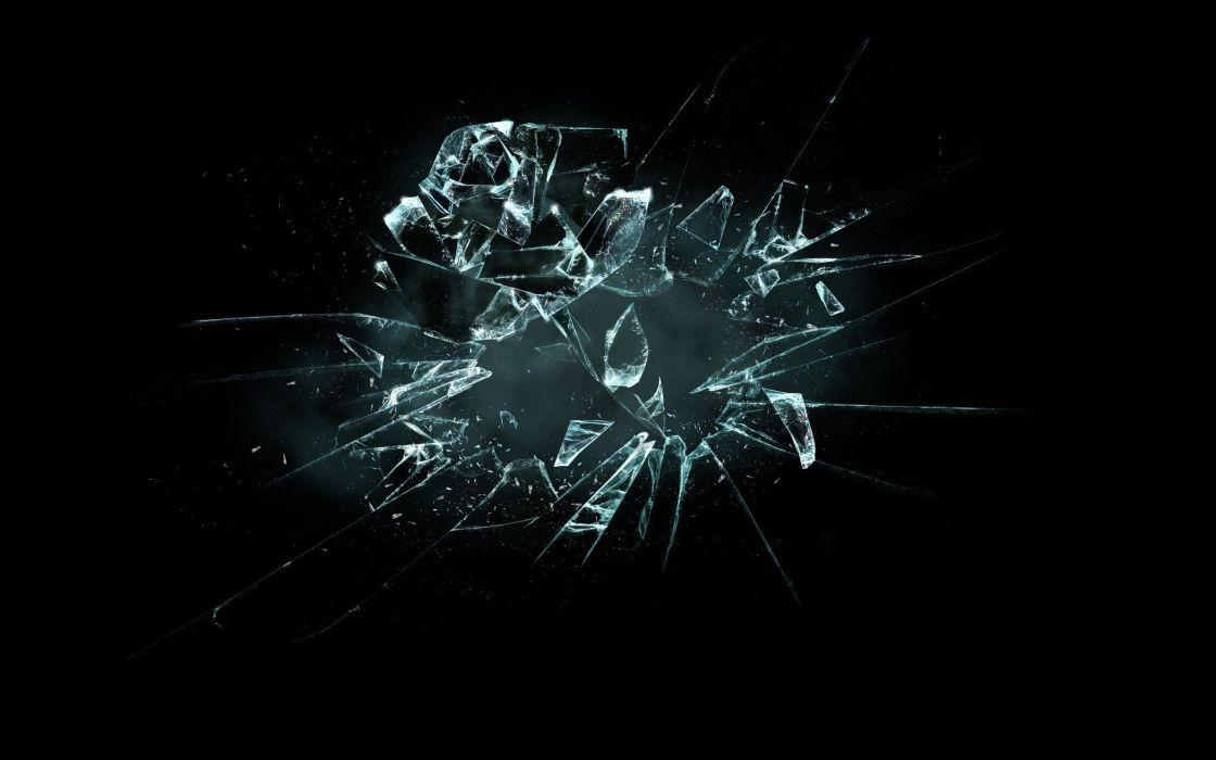 Abstract broken glass black background wallpaper 2560x1600 abstract broken glass black background wallpaper voltagebd Choice Image